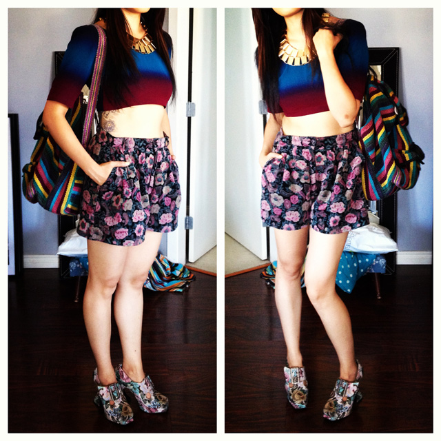 3_How-to-wear-floral-patterns-cord-shorts