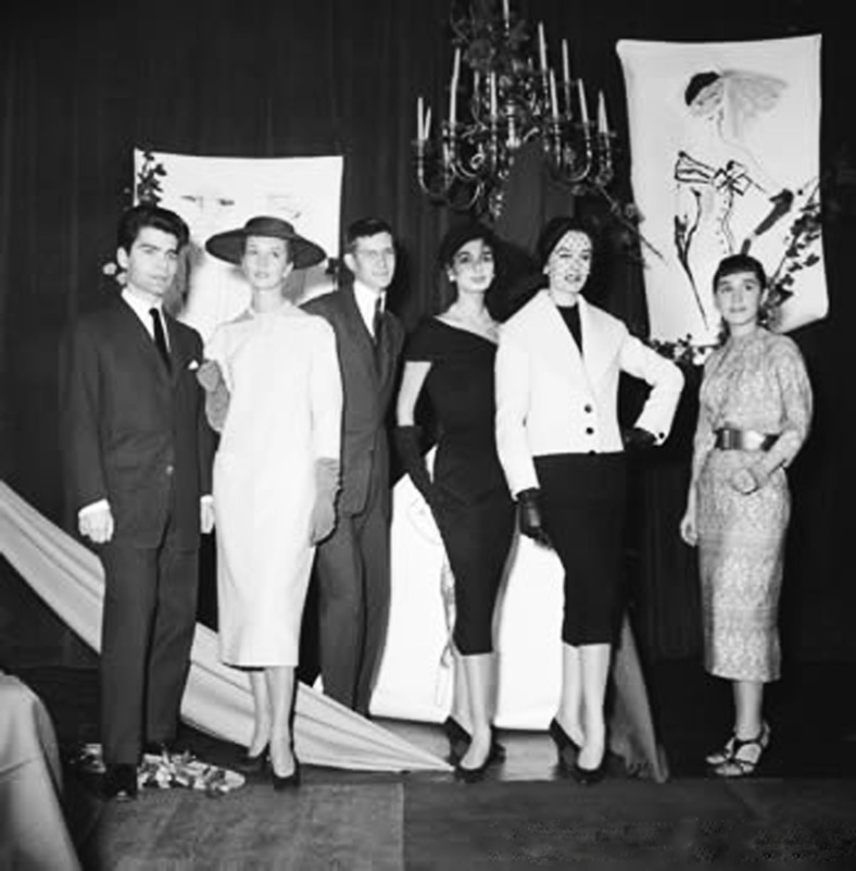 13_Young Karl Lagerfeld and Yves Saint Laurent Winning the Wool Secretariat Design Award in 1954 - See more at httpmaosuit.comindustry-eventswoolmark-prize-chinaattachmenturl-2#sthash.IgUWRH0f.dpuf