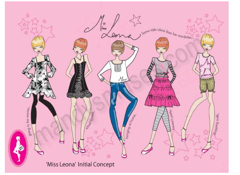 Miss Leona for illustration page