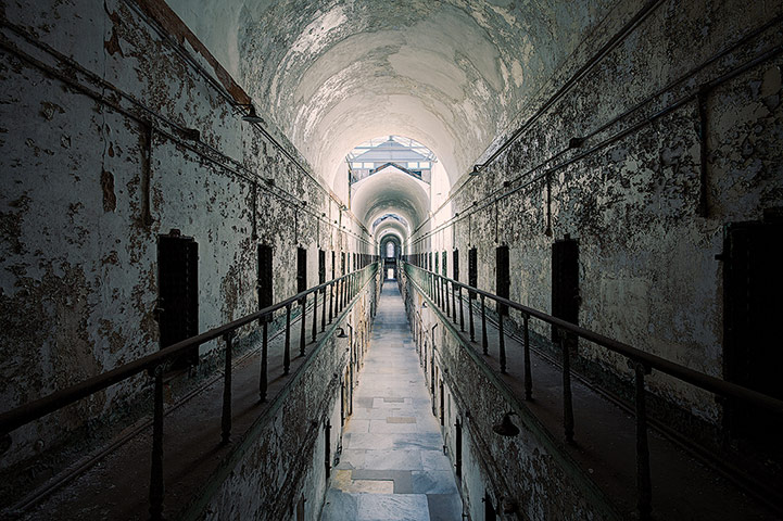 Cell block, Penitentiary, Pennsylvania