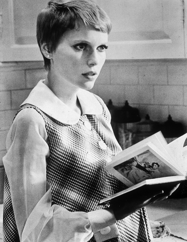 "Mia Farrow in a still from ""Rosemary's Baby,"" 1968."